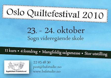Oslo Quiltefestival i oktober