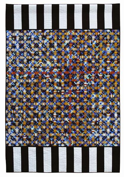 1. premie Tradisjonell klasse - Magnhild Tautra: Restesuppe med stramme striper (150x220cm)