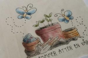 Kurs 9 og 10: Fargelegging av stitchery – Ann-Margret S. Hågensen