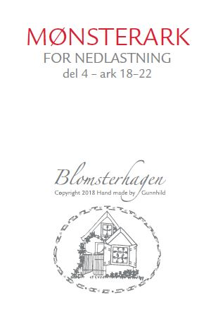 NORSK QUILTEBLAD 3/2018 BLOMSTERHAGEN, DEL 4
