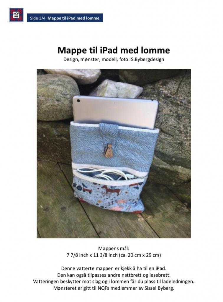 Mappe til iPad med lomme