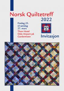 Norsk quiltetreff 2022 invitasjon